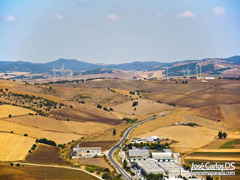 Molinos Eólicos Campo en Vejer de la Frontera