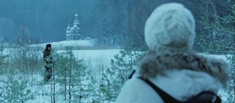 Templo Nevado Ruso en Transsiberian