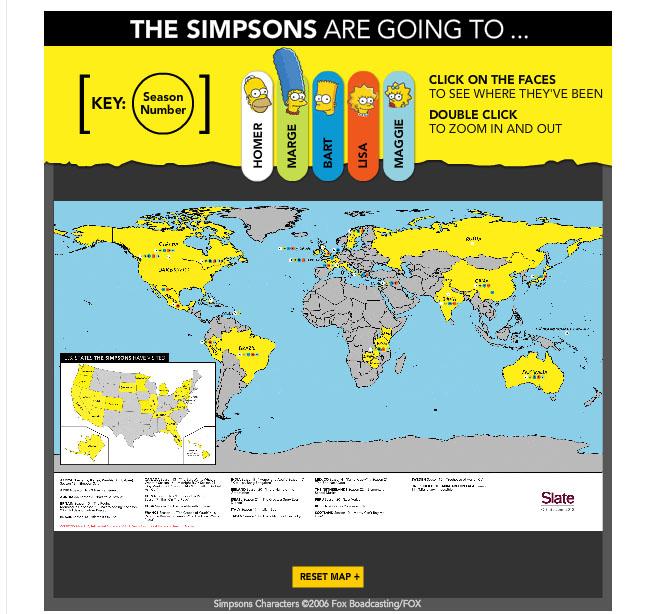 Simpsons Travel Mapa Interactivo