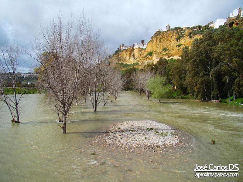 Río Guadalete a su paso por Arcos de la Frontera