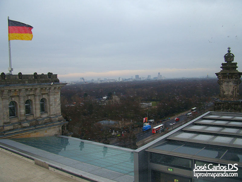 Panorámica del Tiergarten desde Parlamento Alemán