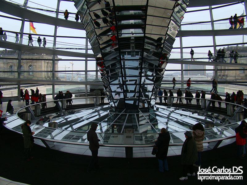Reflejos cúpula de cristal Norman Foster