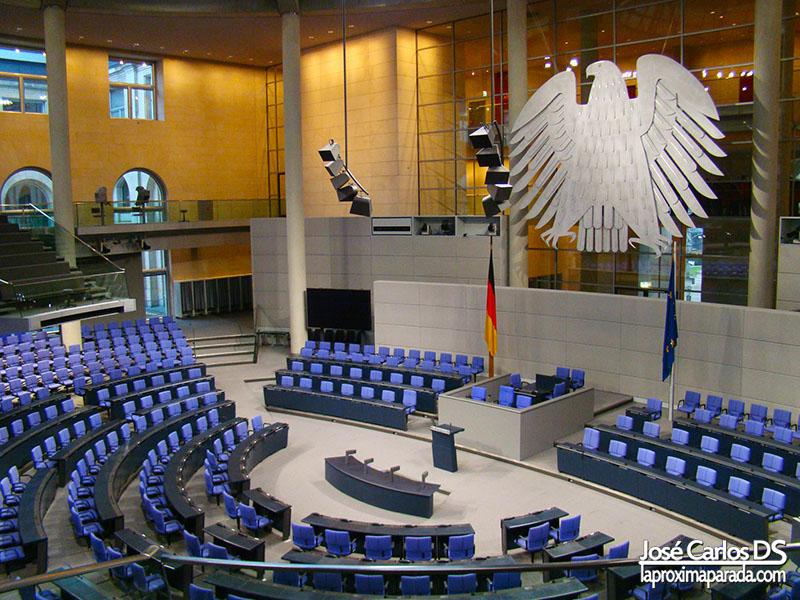 Sala de plenos Parlamento Alemán