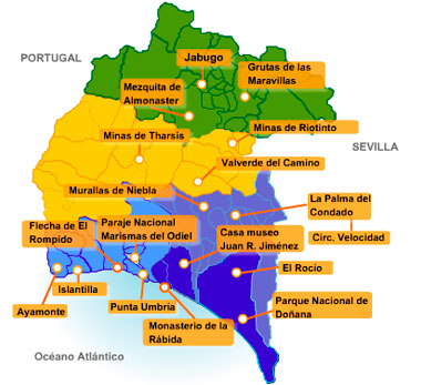 Pueblos De Huelva Mapa.Descubre La Provincia De Huelva La Proxima Parada