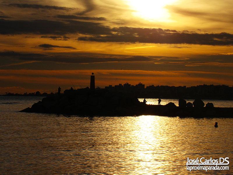 Atardecer Espigón Torre del Mar