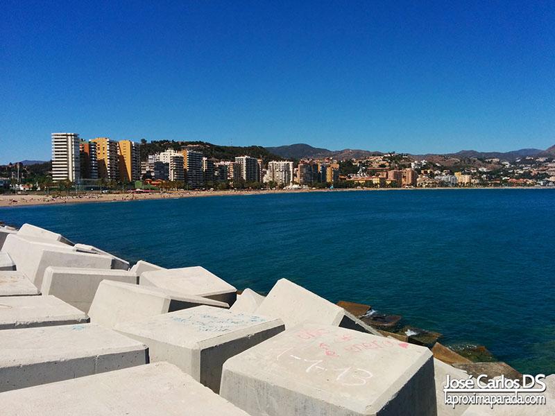 Muros de Playa de la Malagueta Málaga
