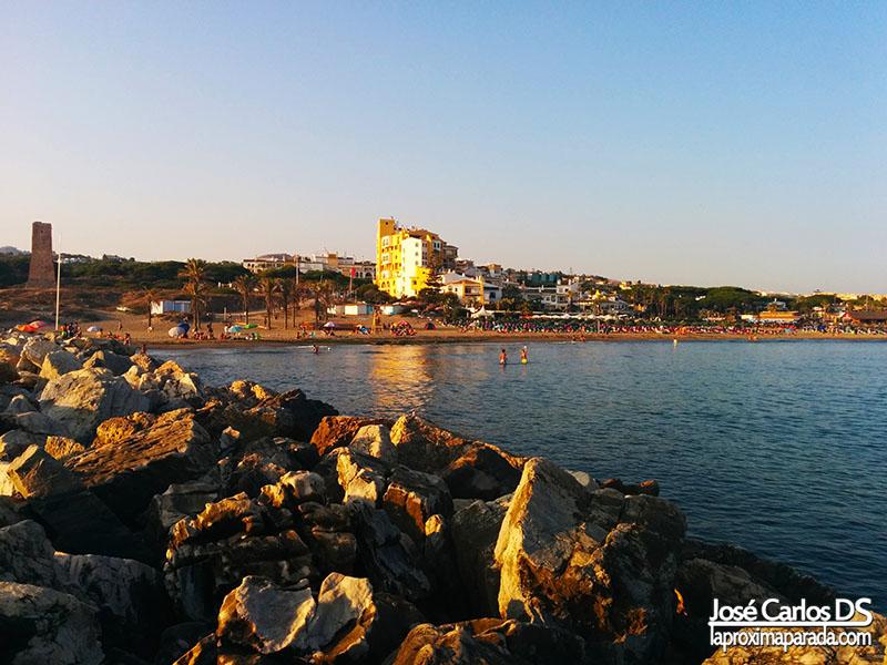 Espigón Playa de Cabopino Marbella