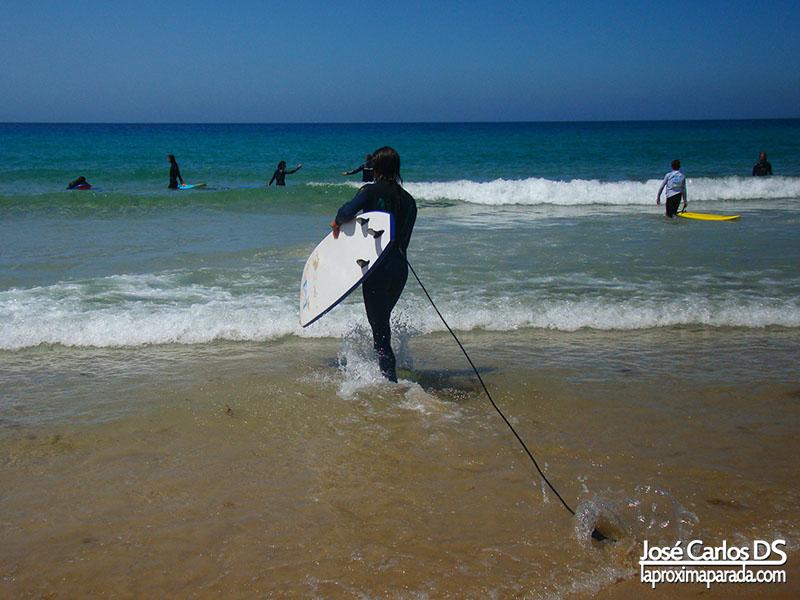 Surfeando en Tarifa