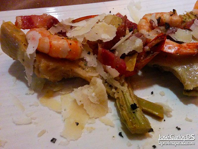 Revuelto de Gambas Restaurante La Mirta Huelva