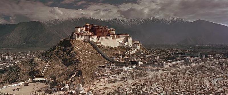 Panoramica Lhasa en Tibet