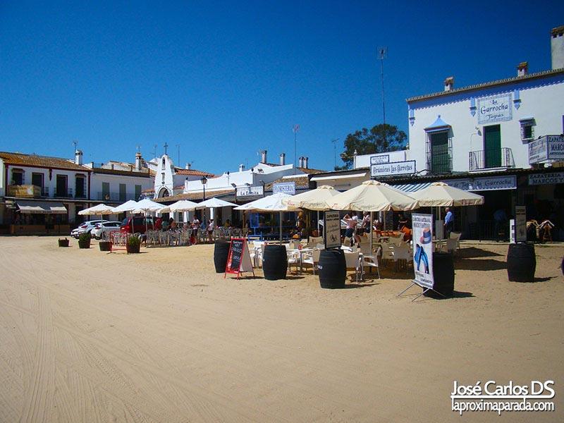 Calles de arena de El Rocío Almonte