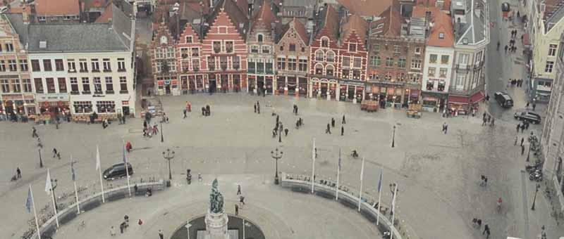 Market Place desde Campanario en Brujas