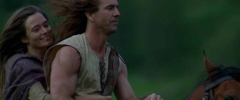 William Wallace con Murron en Braveheart