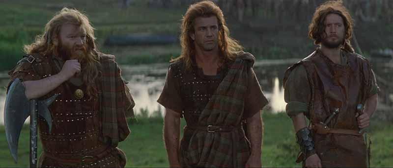 Camaradas de William Wallace en Braveheart