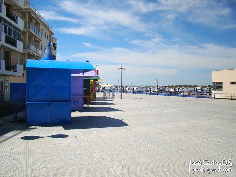 Paseo marítimo en Punta Umbría