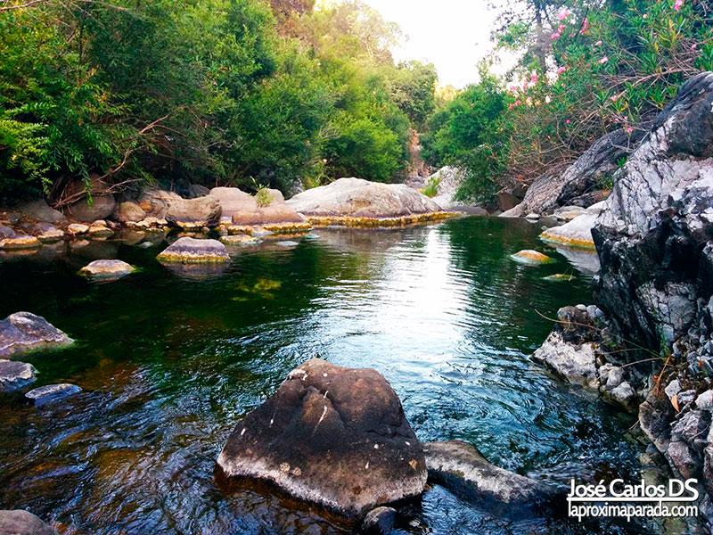 Pozas del río Padrón en Estepona