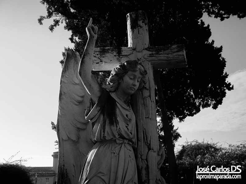 Ángel Custodio tumba de Mary Ann Plew Málaga