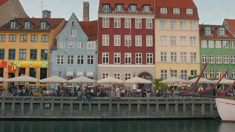 Nyhavn canal famoso Copenhague