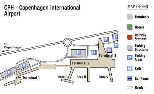 Aeropuerto Copenhague Mapa