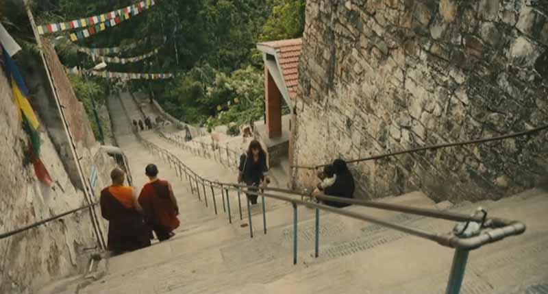 Escaleras Swayambhunath en Katmandú
