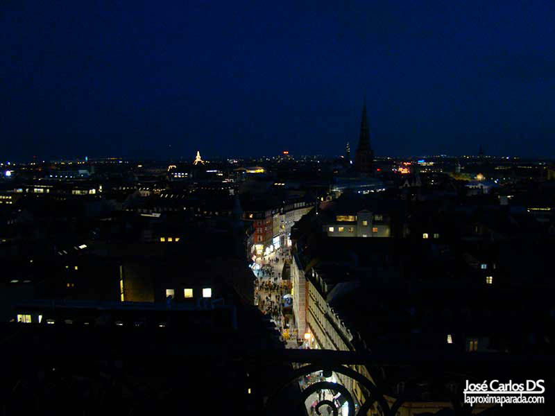 Panorámica desde la Torre Redonda en Copenhague