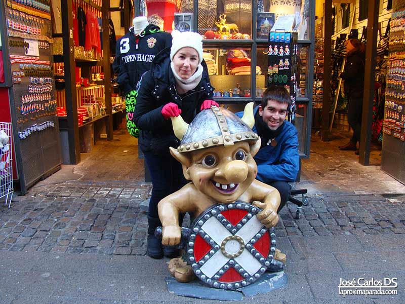 Troll en Stroget Copenhague