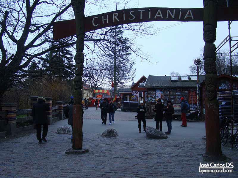 Entrada Christiania en Copenhague