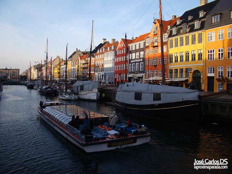 Panorámica Canales de Copenhague, Nyhavn