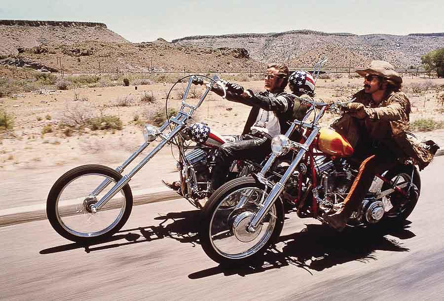 Peter Fonda & Dennis Hopper en Easy Rider