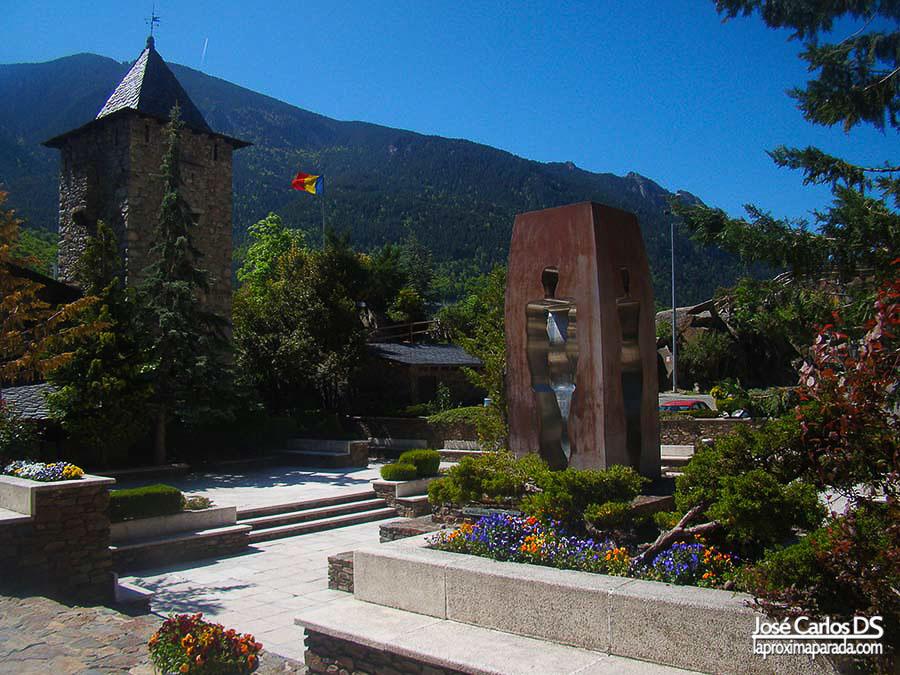 Bandera Andorra en Casa de la Vall