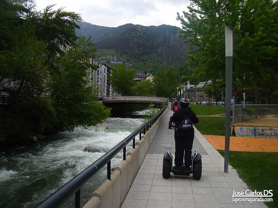 Ruta Segway río Valira en Andorra