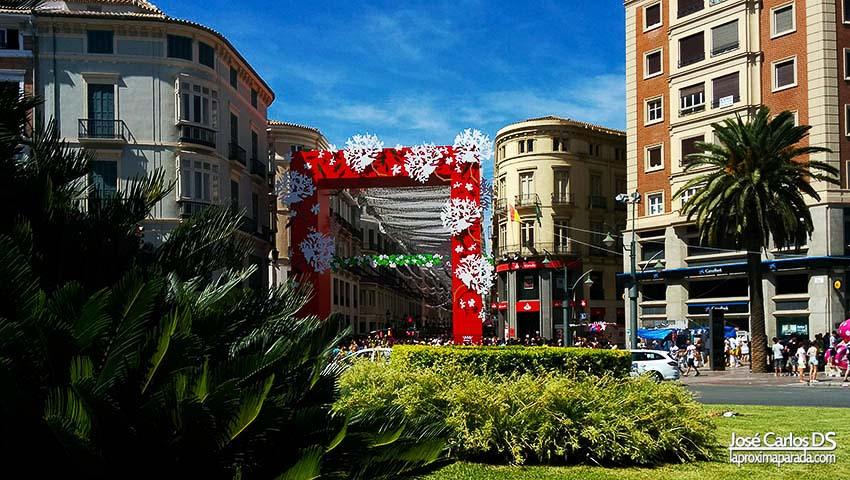 Feria de Malaga Puerta Calle Larios