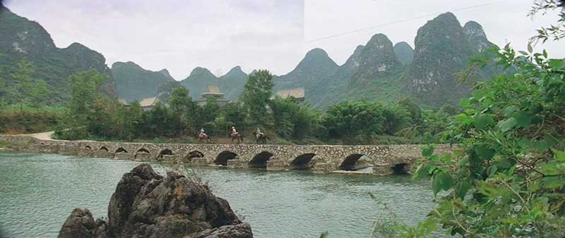 Yizhou, Guangxi - El velo pintado