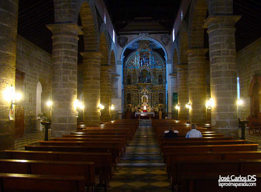 Interior IglesiaNuestra Señora de la Encarnacion en Alora